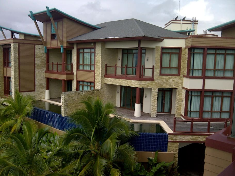 Two duplex villas are shown here