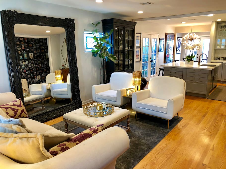 "Designer Living Room w/ 57"" Smart TV"