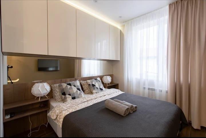 Уютная  студия в новом апартотеле Заполярье