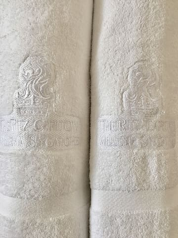 Quality Towels from Ritz Carlton.