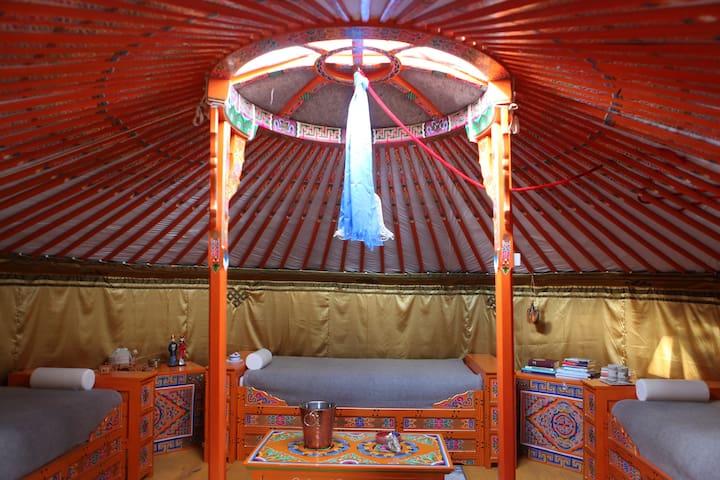 Mongolische Jurte in Brandenburg, Zesch am See