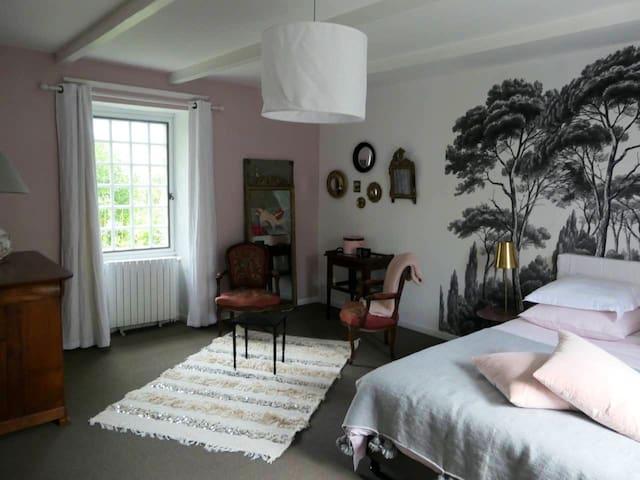 La Chambre Rose du Manoir de RUMORVAN (familiale)