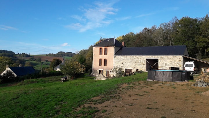 Maison de maître avec atelier à la campagne