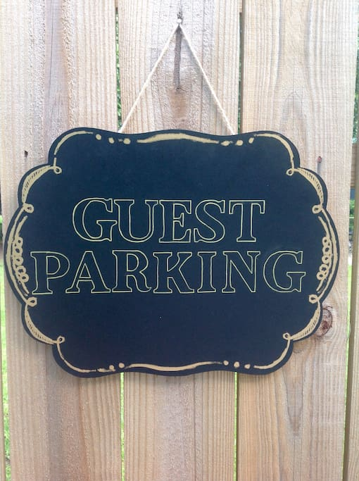 Two off street parking spaces are available for guests.