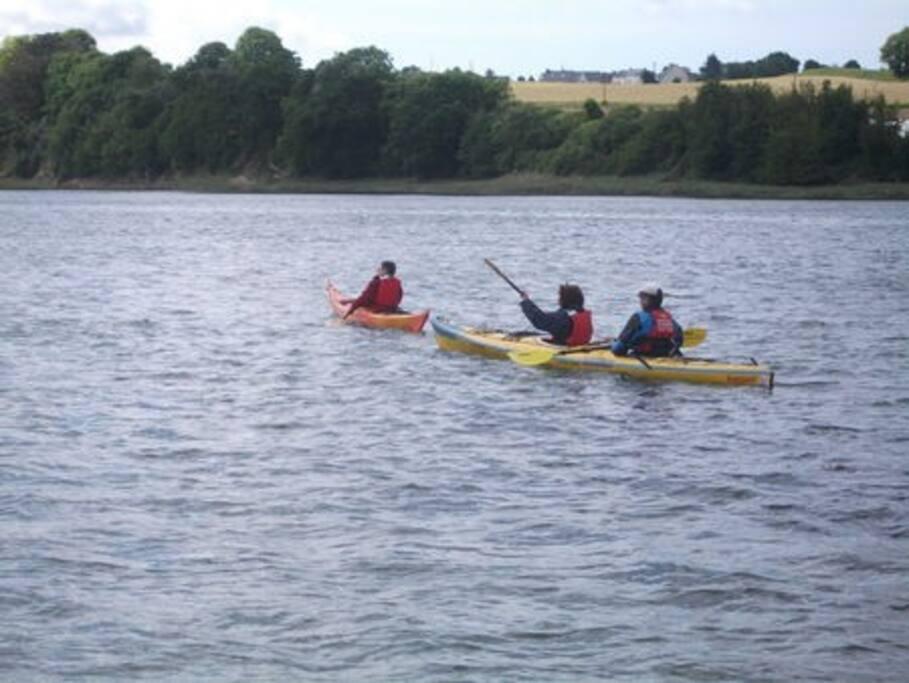Randonnée sur le Jaudy ou en mer avec La Roche Canoé Kayak, 2 mn de la location
