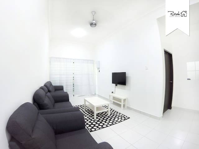 Living Area - Enjoy movie experience on comfy sofa and big LED TV screen.
