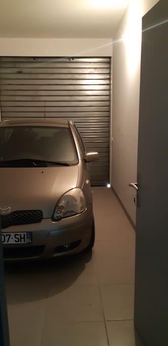 Le garage attenant à l'appartement