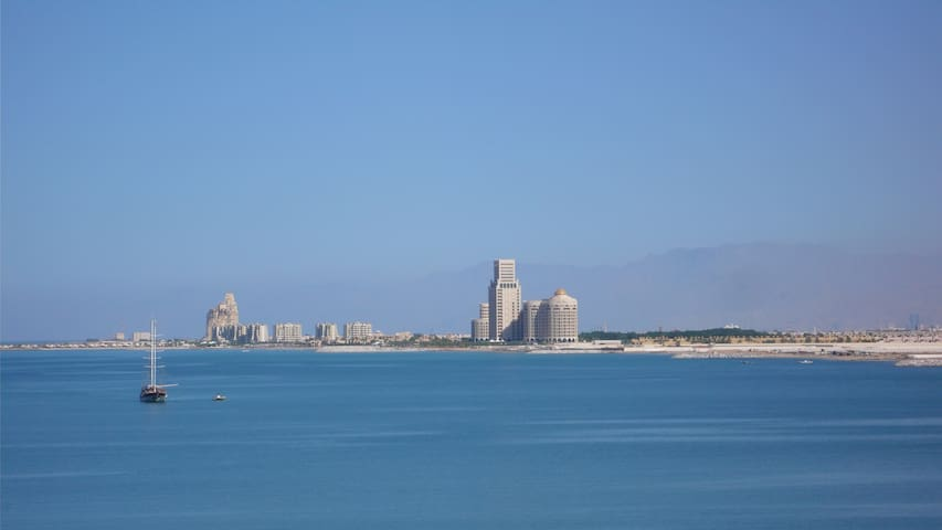 Sea View Beach Apartment (1 bed) - Ras Al-Khaimah