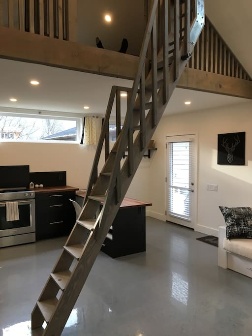 ladder up to loft