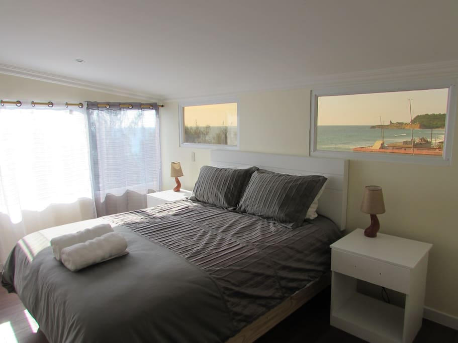 Master bedroom with private bath, Egyptian Cotton sheets and your own spectacular view!