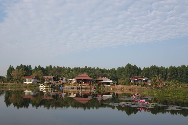 Pao's Baan Suan Home Stay Red Lotus lake.