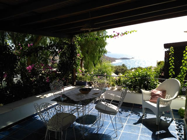 Bodrum,home with the view,garden and private beach