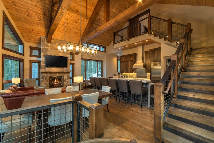 Stunning Modern Mountain Home with Sauna, Hot Tub, Media Room, and Ski Access