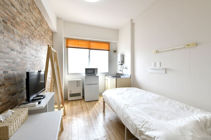 4 min to Sta/Free Wi-Fi/single room/Private room