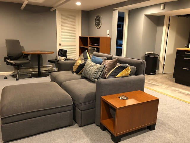 Living Room with 2 pull out single beds