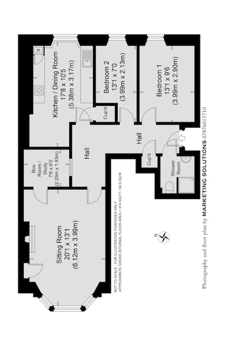 The layout of the flat