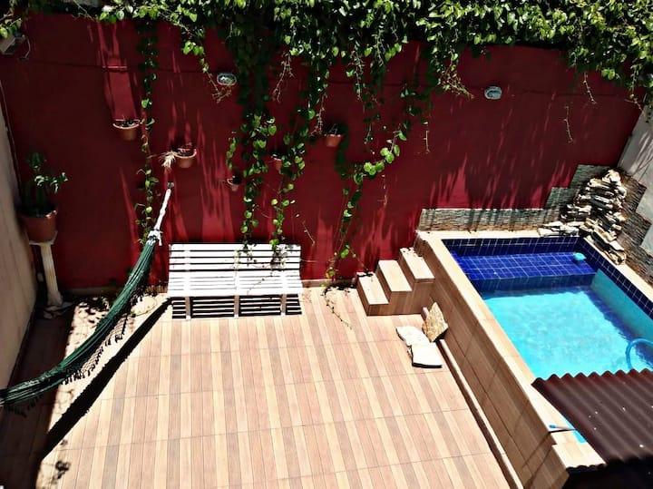 Ap c/piscina,churrasqueira,acd, etc(em condominio)