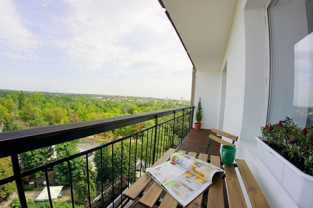 Terrace with view to Gorky Park and Garden
