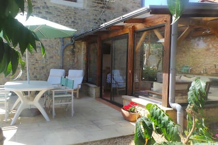 Chez Mondy with Jacuzzi & Swimming Pool - Varaignes - Chalet