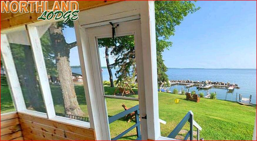 View the lake from a screened porch