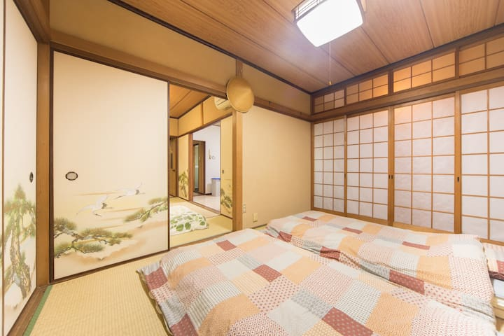 This is the back Tatami room