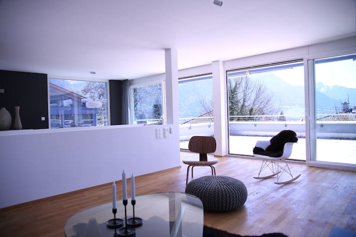 Terrace house close to Davos with beautiful view