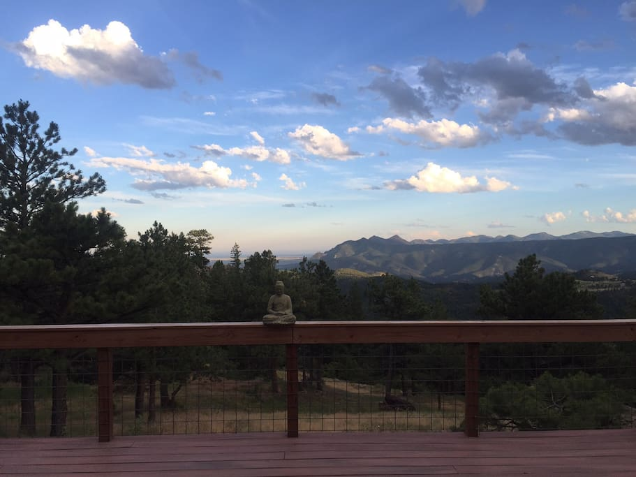 View off the back deck at sunset