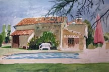 One of our lovely guests painted a picture during their stay at Chez Durandeau