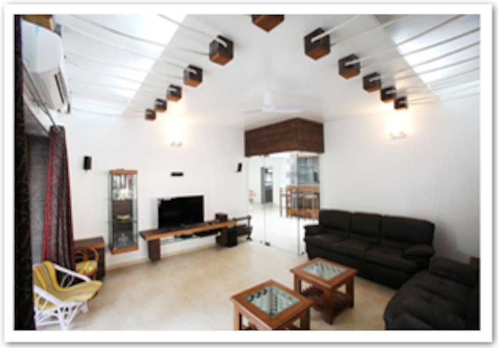Drawing Room / Air-conditioned Hall is ideally for enjoying music and Karaoke at ground floor