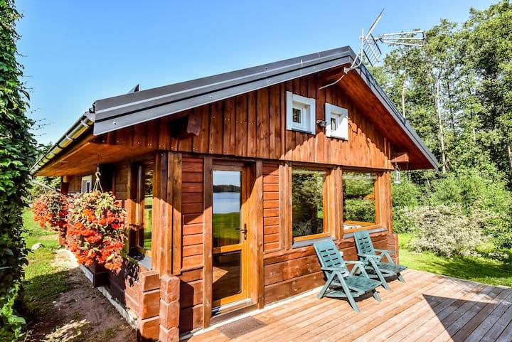 A family log home.