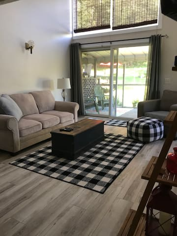 Living room. Sofa pulls out to a full size bed