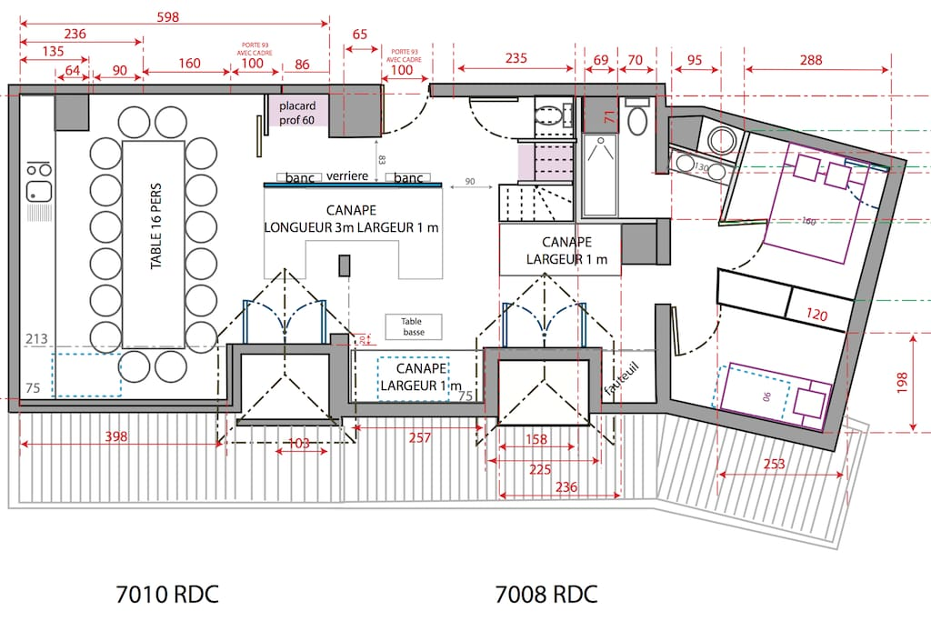 Future plans after renovation work to combine both apartments.