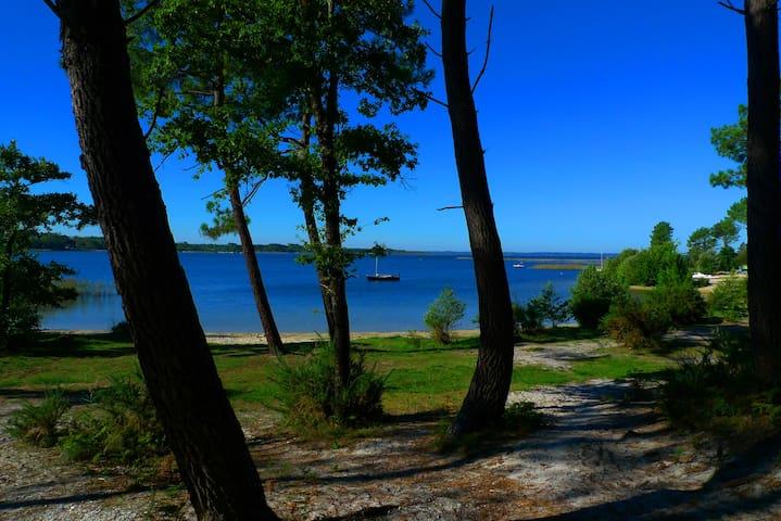 Les plages du lac à 300m de votre location, baignades et sports nautiques.