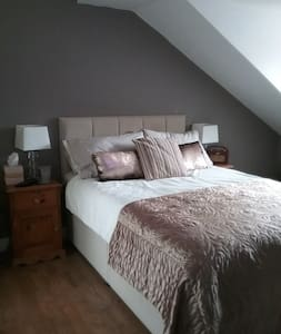 Double bedroom with shower and WC in Llangollen