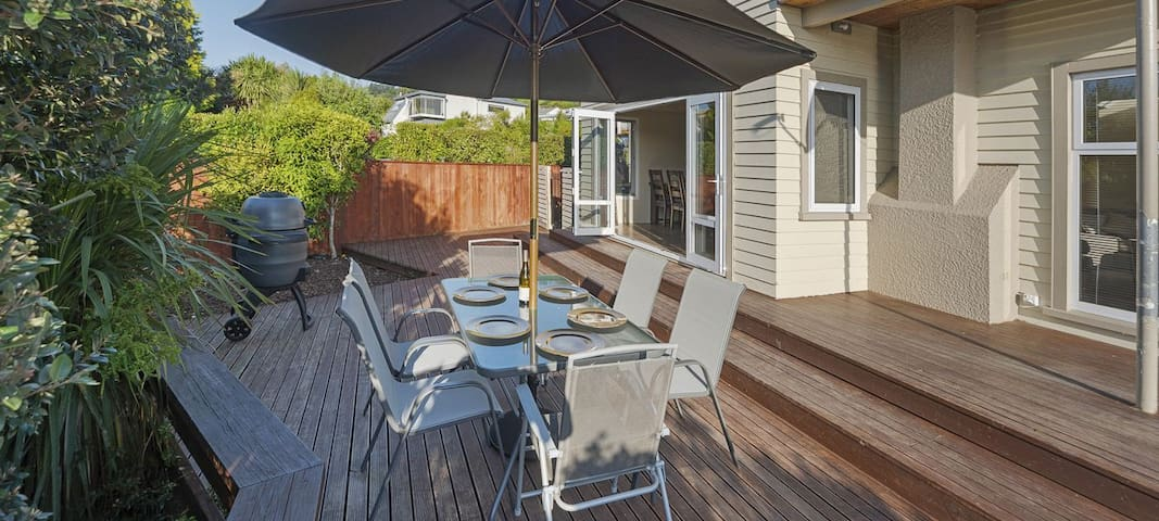 Outdoor furniture, BBQ & deck area