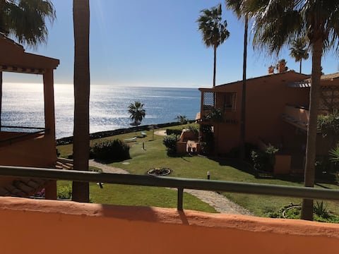 Front Line Beach Townhouse in Estepona