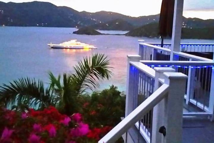 Pool Villa-View-Garden-Free Kayaks - St John - Villa
