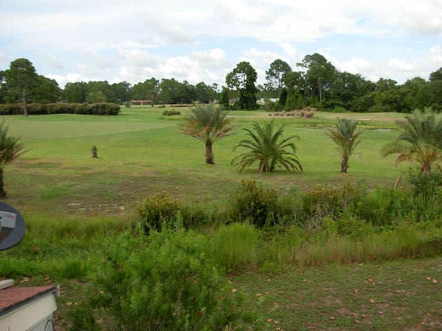 The golf course from the balcony
