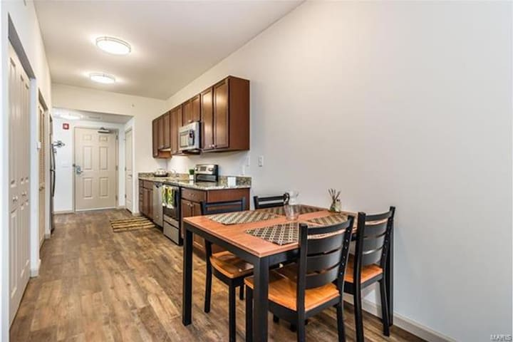 Luxury Downtown St. Charles Apartment Private Room