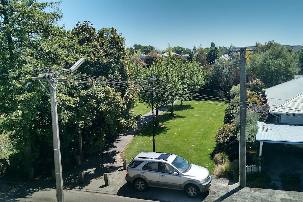 View from the Deck to the park