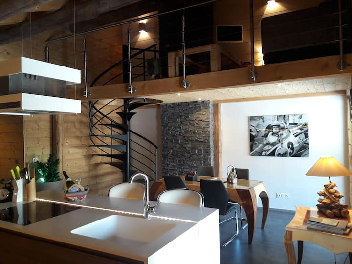 Luxueux appartement duplex dans chalet (75 m²)