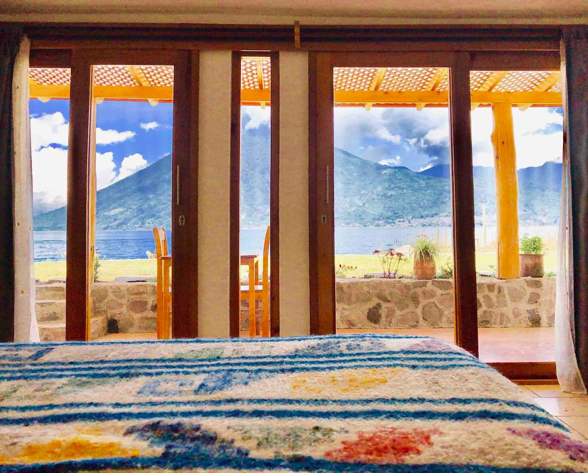 Panoramic vista from bed