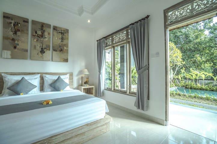 Deluxe Double Room, w/AC, Terrace Shakara Ubud