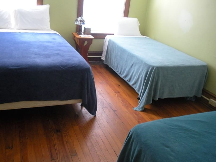 Beds with full linens