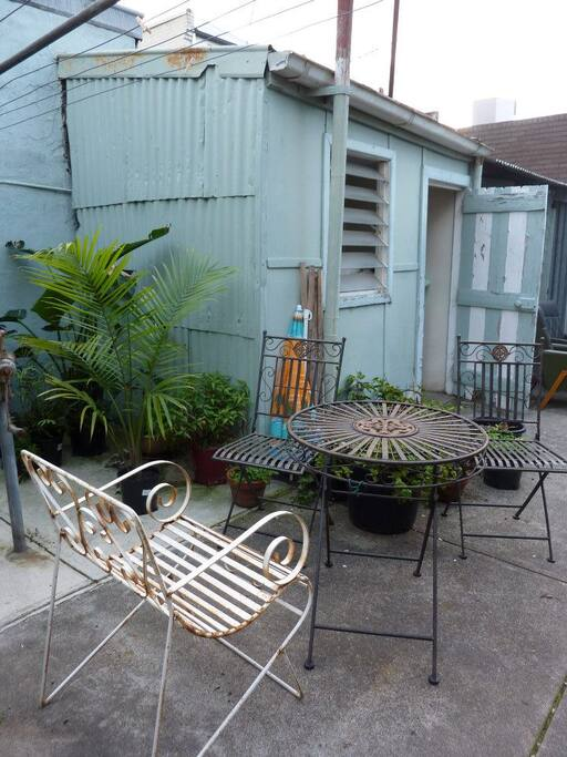 Backyard/entertainment area.