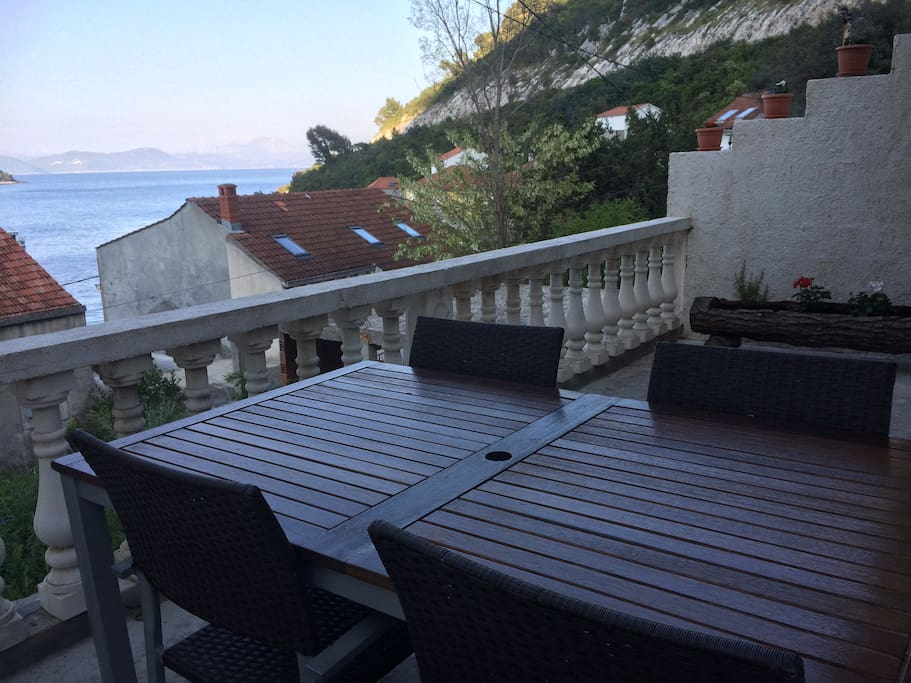 table and chairs on the terrace