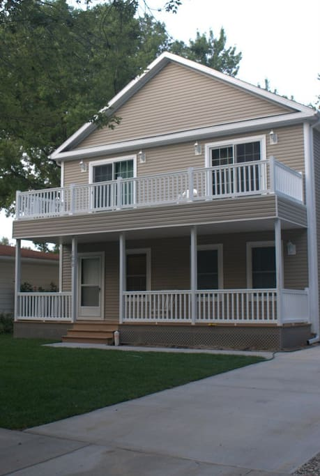 Large 2500 sq ft home, 4 decks to enjoy friends and some private time too.
