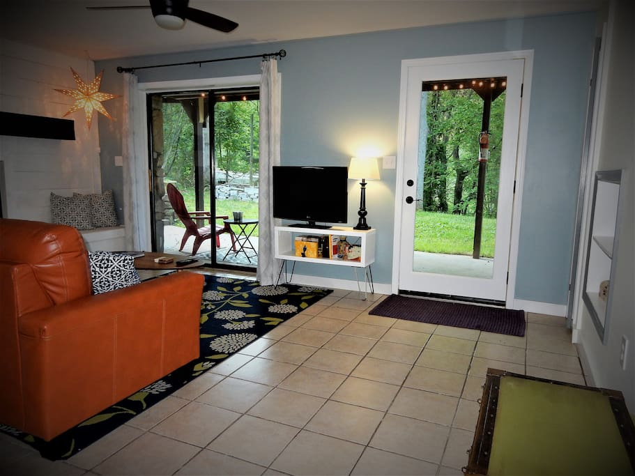 Living Room + Private Covered Patio