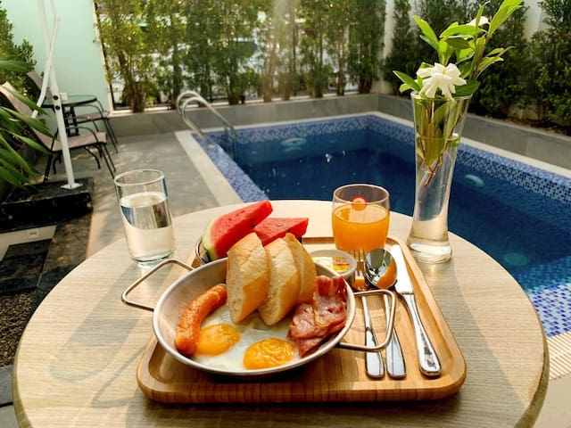 ♛ ❀ MEKONG REVERSIDE ▶▶ VILLA WITH SWIMMING POOL❤❂
