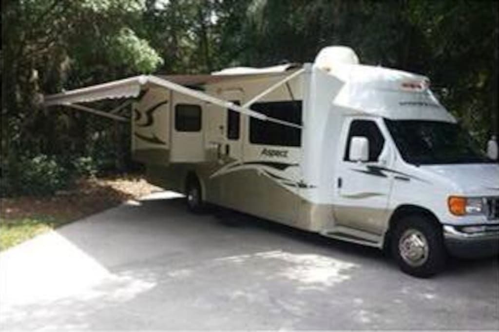 Large awning to picnic under - along with new tires, new brakes, all updated safety features, like new & fully equipped!